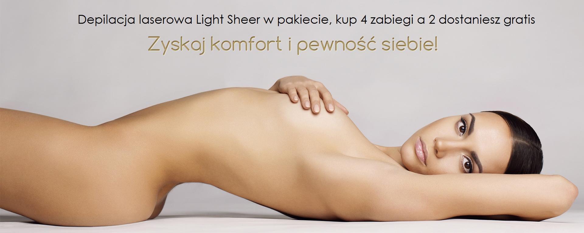 Specjaliści w Depilacji Laserowej - Pakiet depilacji laserowej Light Sheer 4